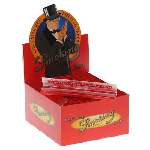 SMOKING RED KING SIZE PER BOX 50 STUKS